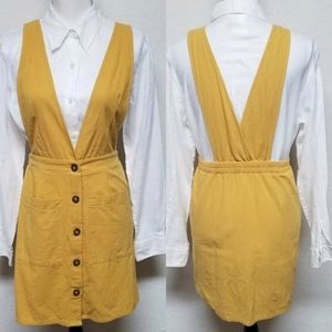 Vintage Country Craft Mustard Yellow Jumper Dress